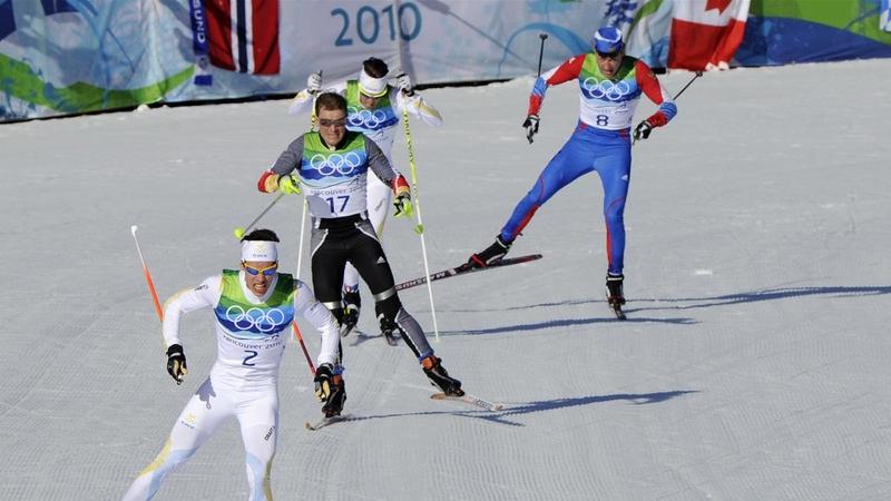 Александр Легков проигрывает дуатлон на Олимпиаде в Ванкувере