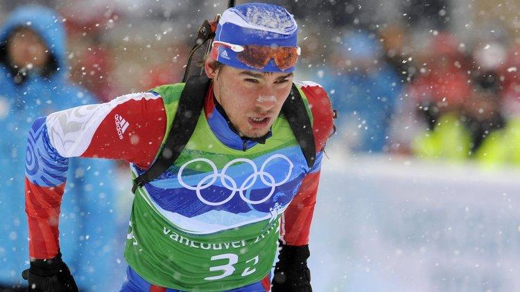 Антон Шипулин в олимпийской эстафете в Ванкувере-2010