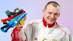 Дмитрий Саутин с медалями