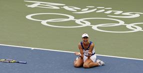 Секунду назад Елена Дементьева стала олимпийской чемпионкой