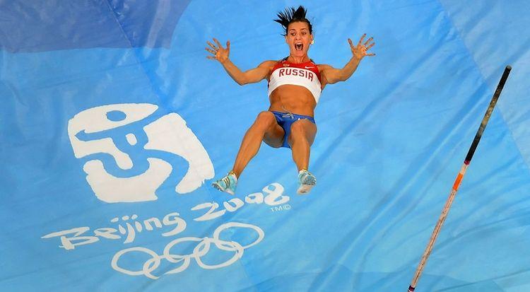 Елена Исинбаева на Олимпиаде-2008