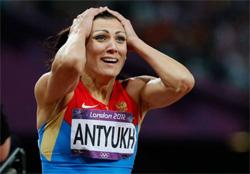 Наталья Антюх после победы в олимпийском финале