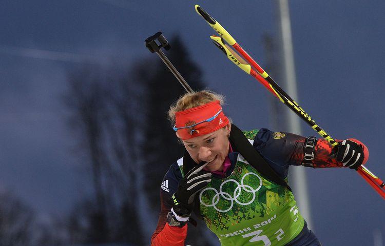 Ольга Зайцева в эстафете на Олимпиаде-2014 в Сочи
