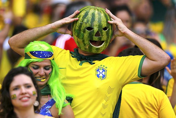 Первая пара полуфиналистов: Германия - Бразилия