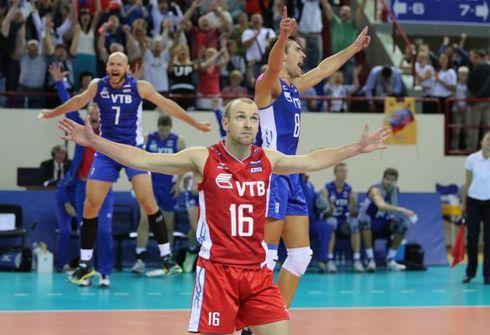 Российские волейболисты победили Болгарию