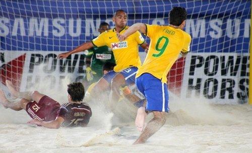 Момент матча Россия – Бразилия