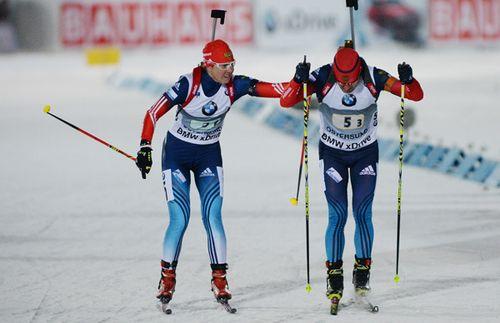 Яна Романова и Евгений Гараничев заняли третье место в Рождественской гонке