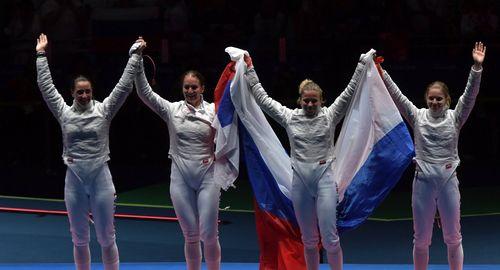 Российские саблистки завоевали золото!
