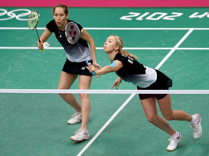 Валерия Сорокина и Нина Вислова на олимпиаде в Лондоне