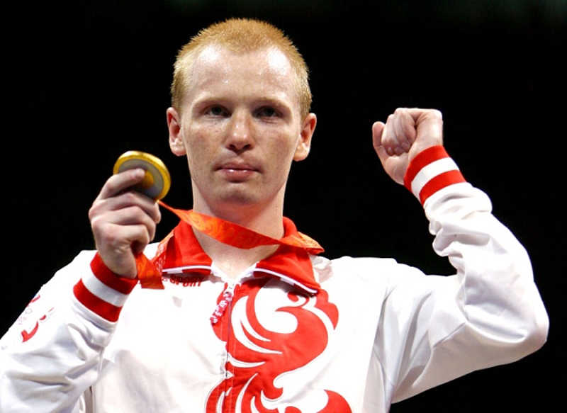 Алексей Тищенко с золотой медалью Олимпиады в Пекине
