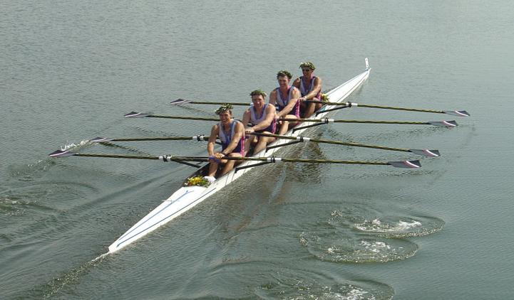 Российския «четвёрка», победившая на олимпиаде 2004 года в Афинах